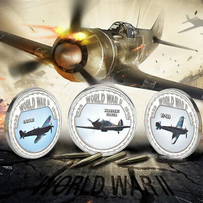 £11.99 • Buy WR World War 2 Coin Medals Set Memorabilia WWII Fighter Planes Collectables Gift