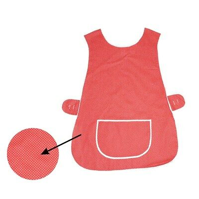 Top Quality Ladies Home / Work Tabard  Apron With  Pocket,  POLKA DOT RED • 4.99£