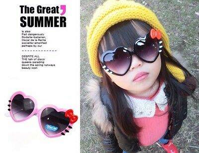 Bowknot Style Fashion Sunglasses Outdoor Love Heart-shaped Cute Baby Girls Kids  • 3.66£