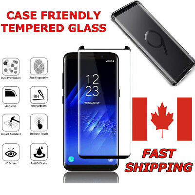 $ CDN11.99 • Buy Case Friendly Curved Full Tempered Glass For Samsung Galaxy S And Note Series
