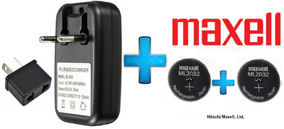 AU11.50 • Buy Maxell 3V ML2032 Lithium Rechargeable CMOS Battery ML 2032 AND Charger(Loose)