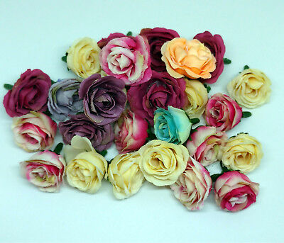 £3.59 • Buy Rose Bud Decorative Synthetic Flowers (Faux Silk) - Mini Rose Buds Wedding Craft