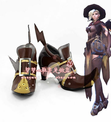 AU84.27 • Buy Overwatch Mercy Angela Ziegler Witch Cosplay Shoes Cos Shoes
