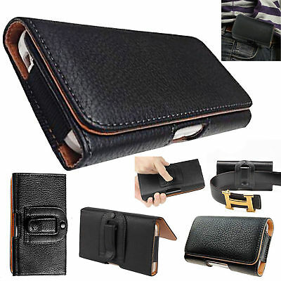 AU11.33 • Buy For OnePlus 7 6T 6 5T 5 3T 3 2 Leather Belt Clip Horizontal Pouch Holster Case