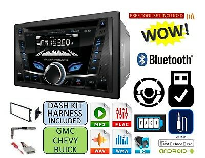 $138.90 • Buy FITS GM CAR-TRUCK-VAN-SUV CD Bluetooth Usb Aux Radio Stereo Double Din Dash Kit
