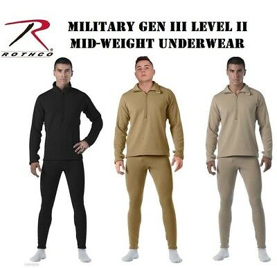$30.99 • Buy Military ECWCS Cold Weather Gen III Mid Level Underwear Rothco 69030 69034