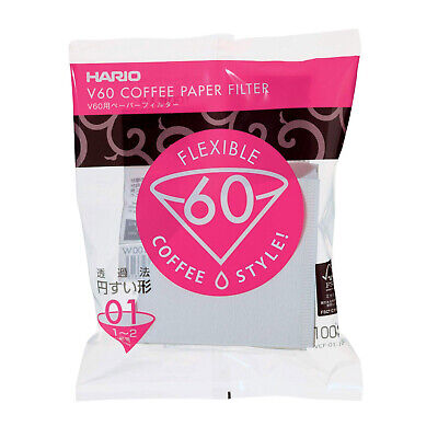 AU20.90 • Buy NEW Hario 1-Cup V60 Filter Papers (100pcs)
