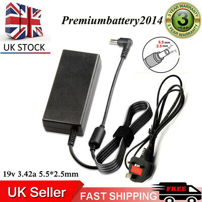 65w For Asus X551c 19v Laptop Battery Notbook Charger + Lead Power Cord • 9.99£