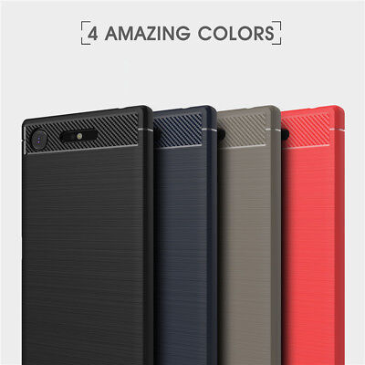 AU9.99 • Buy For SONY Xperia XZ Premium Shockproof Carbon TPU Back Cover Anti Knock Case