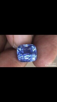 Unheated Ceylon Blue Sapphire 10.68 Ct Cushion Cut AAA VVS Loose Gemstone • 30,690$