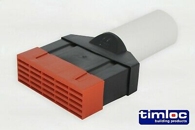 Timloc 6500 Ducting 100mm  To Airbrick Adaptor Set With Terracotta Air Brick  • 35£
