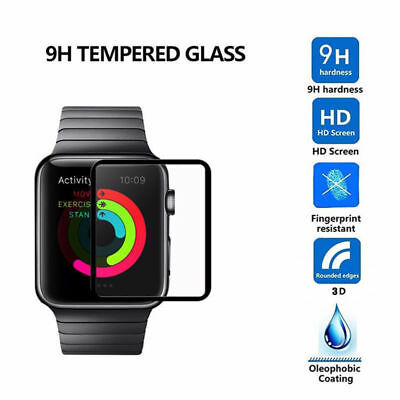 $ CDN1.51 • Buy 3D Curved 9H Tempered Glass Screen Protector Film For Apple Watch Series 3/4