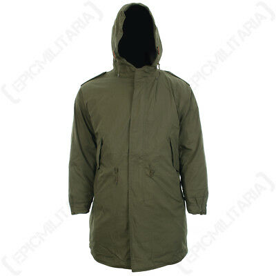 $136.61 • Buy US M51 Parka With Liner - Winter Cold Weather Coat Removable Liner Fishtail New