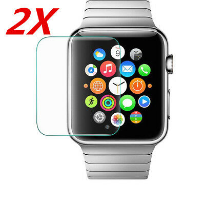 $ CDN2.22 • Buy 2 Pack 38/42mm Tempered Glass Screen Protector For Apple Watch Series 1 2 3