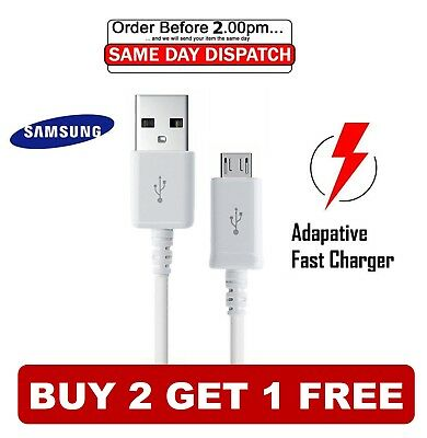 FOR Samsung Galaxy Note 1/2/3/4/5 -- Micro USB Charging Data Sync Charger Cable • 1.29£