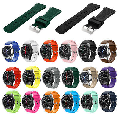 AU4.20 • Buy Sport Rubber Silicone Wrist Watch Band For Samsung Gear S3 Frontier Classic 22mm