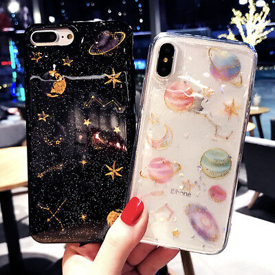 $ CDN7.97 • Buy For Samsung Galaxy S9 /S9 Plus Sky Moon Silicone Soft Bling Glitter Case Cover