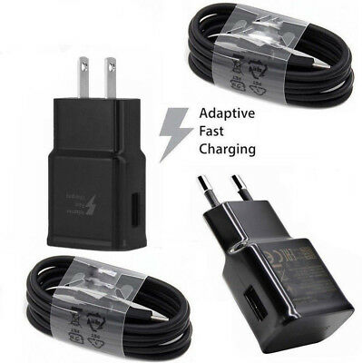 $ CDN2.68 • Buy Black Adaptive Fast Wall Charger Plug+Cable For Samsung Galaxy S9 Plus S8 Note 8