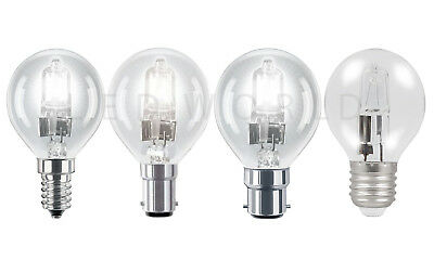 Golf Ball Light Bulbs Clear Lamps 23w 37w 55w - Ses Sbc Es Bc • 1.99£