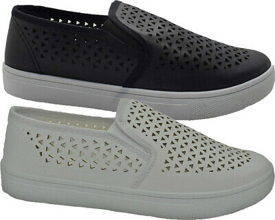 £7.95 • Buy Ladies Breathable Slip On Pumps Casual Comfy Skate Womens Sneaker Summer Shoes
