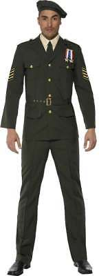 Wartime Officer Fancy Dress Costume Mens (army) • 54.17£