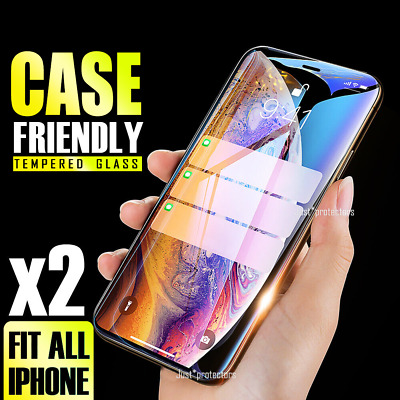 AU3.65 • Buy 2X Tempered Glass Screen Protector For Apple IPhone 8 7 Plus 6 6S 11 Pro Max XR