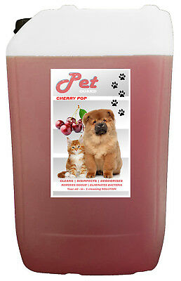 20L Cherry Pop Pet Cattery Kennel Disinfectant Deodouriser Cleaner Pet GUARD • 20.99£