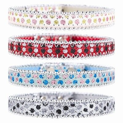 £3.40 • Buy 1 Sparkly Dog Collar Pink Blue Black Or Red Bling Glitter Diamante Diamond