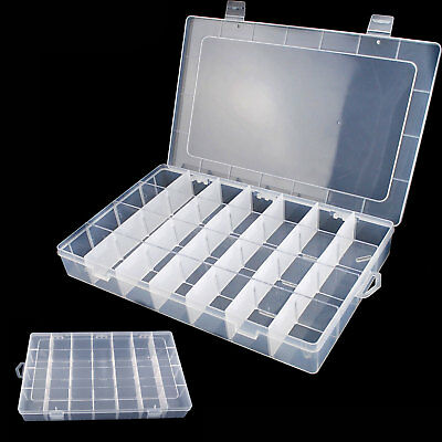 28 Compartment Organiser Storage Plastic Box Loom Bands Craft Nail Art Case • 5.43£