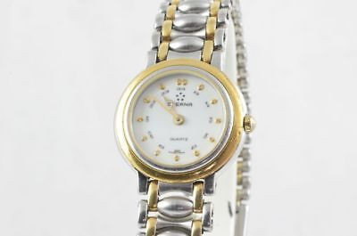 Eterna Women's Watch Steel/Gold Quartz 25MM With Steel Wristband Vintage • 206.19£