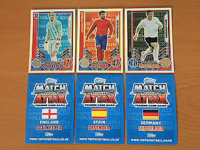 Match Attax ENGLAND EURO 2012 Hundred 100 Club Blue Backs Choose From List • 1.39£
