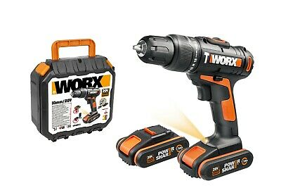 View Details WORX WX366.5 18V (20V MAX) Cordless Combi Hammer Drill With X2 1.5Ah Batteries • 59.99£