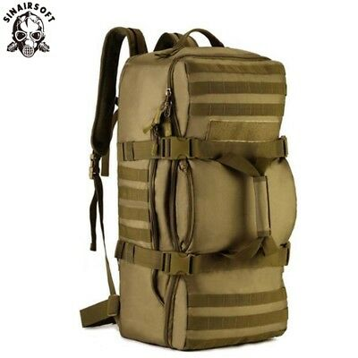 AU70.99 • Buy 60L Military Tactical Backpack Rucksack Army Molle Shoulder Bag Travel Hiking AU