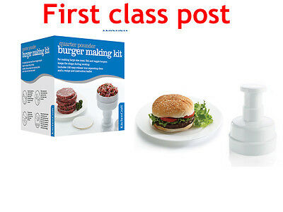 £9.45 • Buy KITCHENCRAFT LARGE QUARTER POUNDER HOME MADE BEEF BURGER PRESS 100 Wax Discs