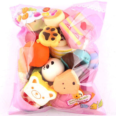 AU14.99 • Buy 15 PCS Cute Squishy Mixed Jumbo Medium Mini Random Soft Phone Straps Gift Pack