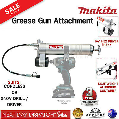 AU167.27 • Buy Makita Grease Gun Attachment Cordless Pistol Coupler Air Tool Suits Drill Driver