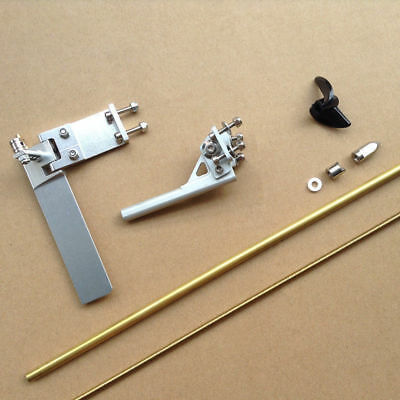 CNC Alloy 95mm Rudder Stinger & 4mm Flex Cable Shaft Set For Small RC Boat #1763 • 59.99£