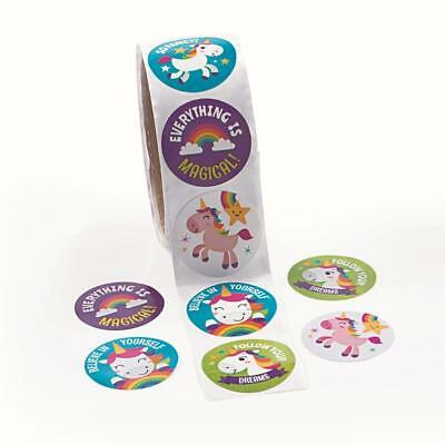 AU4 • Buy Unicorn Stickers...PACK OF 24...Rainbow Party Favors...Party Supplies...Craft