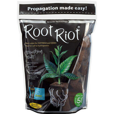 £14.06 • Buy ROOT RIOT Refill Bag 50 Loose Cubes Cuttings Seedlings Propagation