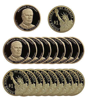 $89 • Buy 2013 -S William Mckinley Presidential Proof Dollar Roll 20 US Coins