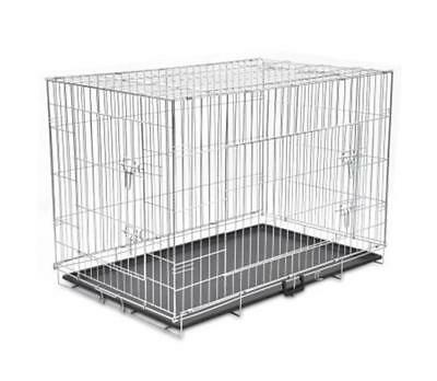 View Details XXL Foldable Metal Dog Cage Strong Folding Pet Bench Flat Pack Animal Carrier • 85.99£
