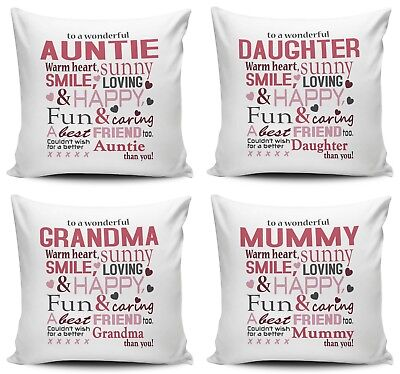 To A Wonderful Relative Lovely Cushion Cover • 7.99£