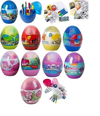 Kids Craft Eggs Painting,Drawing,Marker,Crayons,Stamps,Finger Paint Pots Gift 3+ • 9.99£
