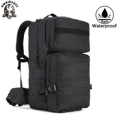 AU58.89 • Buy 55L Tactical Army Military Bag Molle Backpack Rucksack Camping Gear Assault Pack