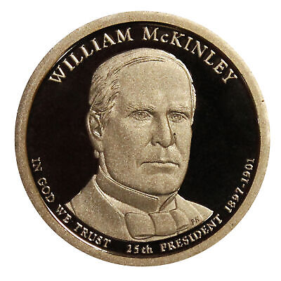 $3 • Buy 2013 -S William Mckinley Presidential Proof Dollar Gem Deep Cameo US Coin