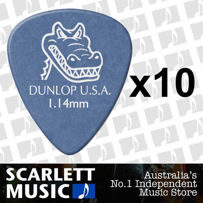 AU7.95 • Buy 10 X Jim Dunlop Gator Grip 1.14MM Gauge Guitar Picks *NEW* Plectrums Blue