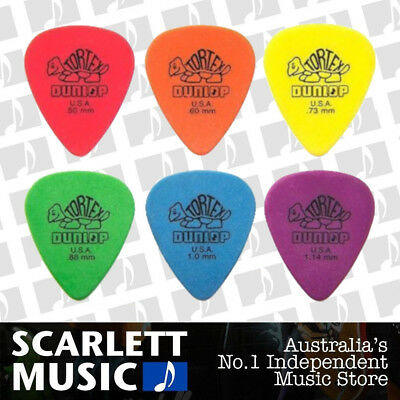 AU4.20 • Buy 6 X Jim Dunlop Tortex Standard Mixed Gauges Guitar Picks *NEW* Plectrums, Colour