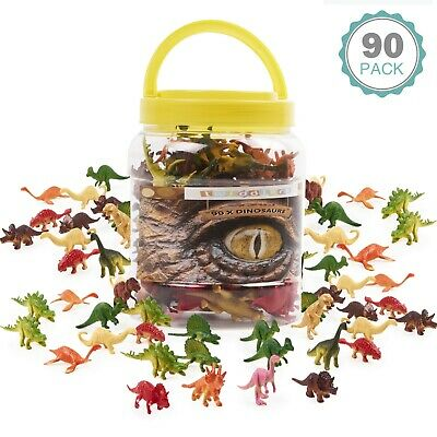 £13.49 • Buy 90 Pack Dinosaurs Plastic Animals Action Figures Kids Toys T Rex Dino Model Toys