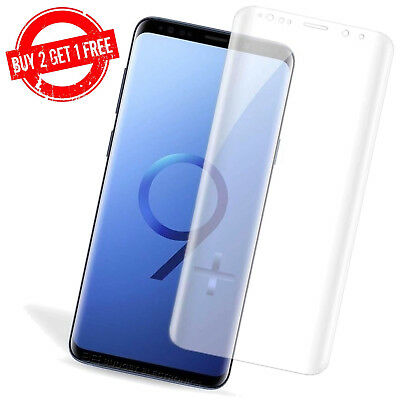 $ CDN3.95 • Buy Samsung Galaxy S9+ PLUS Full Coverage Clear Anti-Bubble 3D Film Screen Protector