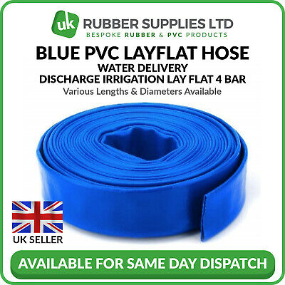 £102 • Buy Blue PVC Layflat Hose Pipes Water Delivery Discharge Irrigation Lay Flat 4 BAR